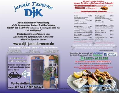 DJK Vereinsheim   Abhol- und Lieferservice
