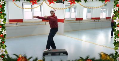 TV Hude TV: Step-Aerobic in der Christmas-Edition