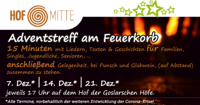 Adventsimpuls statt Adventstreff