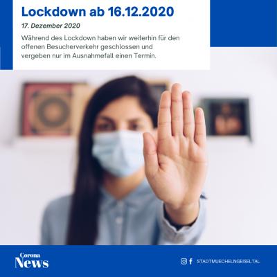 Vorschaubild zur Meldung: Öffnungszeiten im Lockdown