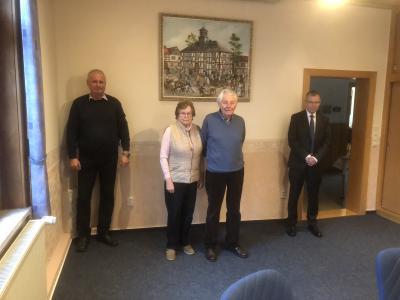 v.l.n.r.:Bernd Heine, Marga Opitz, Werner Opitz, Dr. Achim Lauber-Nöll