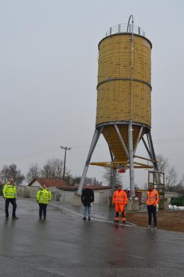 Foto zur Meldung: Das Salzsilo im Bauhof ist fertig