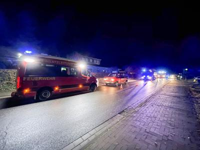Feuerwehreinsatz nach einer Verpuffung in einer Heizungsanlage