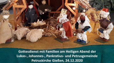 Foto zur Meldung: Gottesdienst mit Familien am Heiligen Abend 2020