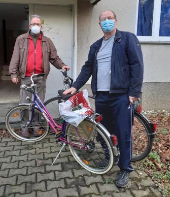 Foto zur Meldung: Umzug der Fahrradwerkstatt erfolgreich abgeschlossen