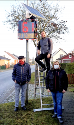 Foto zu Meldung: Tempoanzeigetafeln für Göhlsdorf, Emstal und Michelsdorf