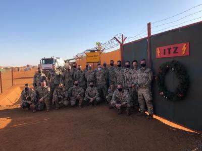 Soldatinnen und Soldaten des Informationstechnikbataillon 381