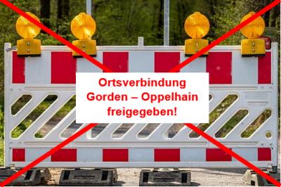 Vorschaubild zur Meldung: Ortsverbindung Gorden - Oppelhain: Straße wieder freigegeben nach Beendigung der Bauarbeiten