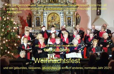Vorschaubild zur Meldung: Weihnachtsgruß des Rehfelder Sängerkreises