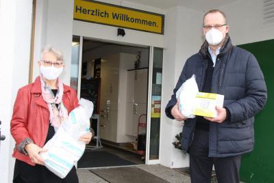 Bild der Meldung: Schutzmasken an Eschweger und Witzenhäuser Tafel, Arche Hessisch Lichtenau und Bürgerhilfe Sontra übergeben