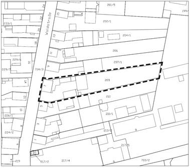 Abbildung: Räumlicher Geltungsbereich des vorhabenbezogenen Bebauungsplanes (o.M.)