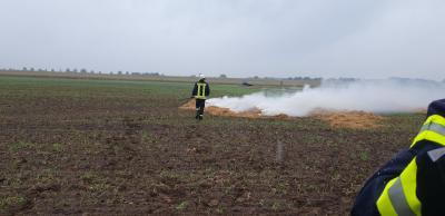 Foto zur Meldung: Übung eines Flächenvegetationsbrandes
