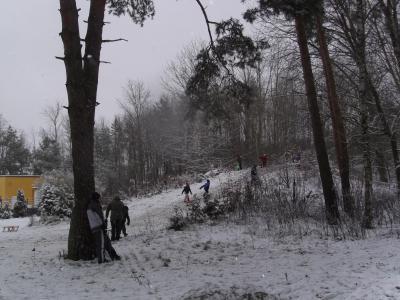 Foto zur Meldung: Wieder Schnee in Rehfelde