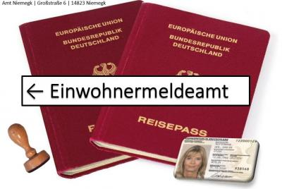 Bild Reisepass und Ausweis mit Dienstsiegel - Einwohnermeldeamt Niemegk