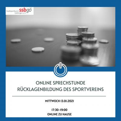 Vorschaubild zur Meldung: Online-Sprechrunde: Rücklagenbildung des Sportvereins