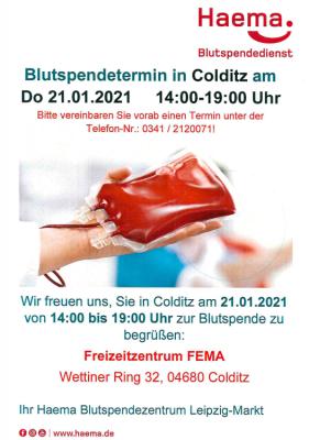 Vorschaubild der Meldung: Blutspendetermin im Januar