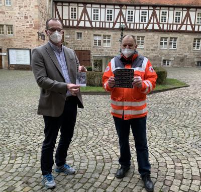 Vorschaubild zur Meldung: Pressemitteilung des Werra-Meißner-Kreises vom 07.01.2021: Landrat Reuß nimmt Sternsinger-Segen entgegen