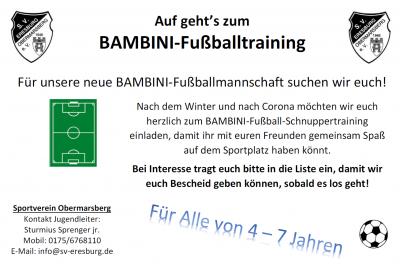 BAMBINI-Fußballtraining