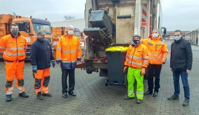 Foto zur Meldung: Start der Gelben Tonne - Leerung der neuen Gefäße für den Verpackungsabfall hat begonnen