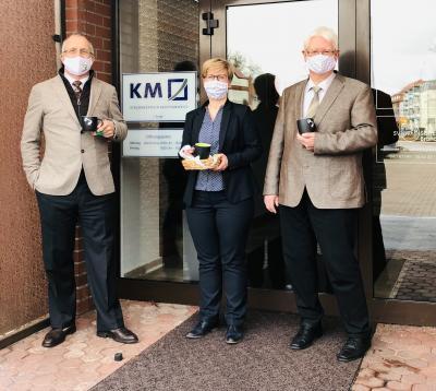 Kanzleipartner Michael Krause, Anja Löther und Uwe Kassens (v.l.). Foto: Privat