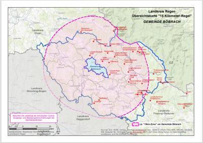 Karte Böbrach 15 km