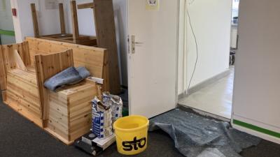 Bild der Meldung: Der Küchenumbau hat begonnen!