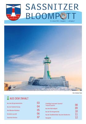 """Die 1. Ausgabe des """"Sassnitzer Bloompott"""" 2021 ist erschienen"""