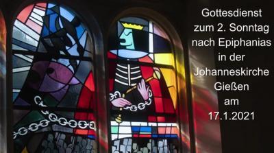 Foto zur Meldung: Gottesdienst zum 17.1.2021 in der Johanneskirche
