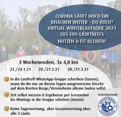 Foto zur Meldung: Lauftreff: Fit bleiben trotz Corona