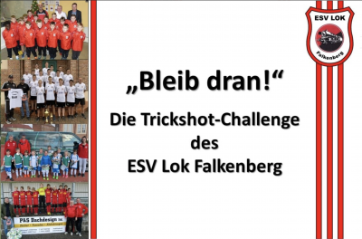 Foto zur Meldung: Die Trickshot-Challenge des ESV Lok Falkenberg