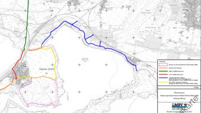 Umleitung Radweg am Sedlitzer See (Karte: LMBV)