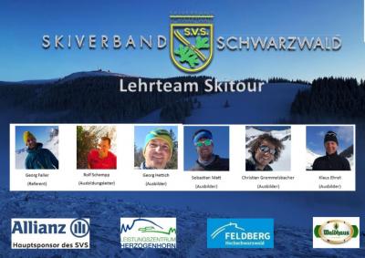 Das Lehrteam Skitour, Bild: SVS