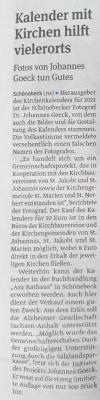 Volksstimme-Artikel vom 19.10.2020 Schönebeck