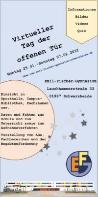 Virtueller Tag der offenen Tür (Grafik: Emil-Fischer-Gymnasium)