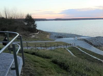 Vorschaubild zur Meldung: Seestrand Lieske startklar- Endwasserstand noch nicht erreicht