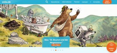 Bildausschnitt Internetseite Onilo | kostenfreie digitale Geschichten lesen oder vorlesen lassen