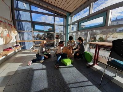 Foto zur Meldung: Notbetreuung in der Schule