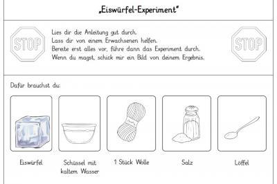 Foto zur Meldung: Stufe 1: Das Eiswürfel-Experiment