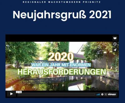Bildausschnitt Webseite TGZ zum RWK Neujahrsgruß 2021