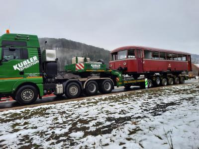 Historischer Schienenbus trifft in Rupboden ein