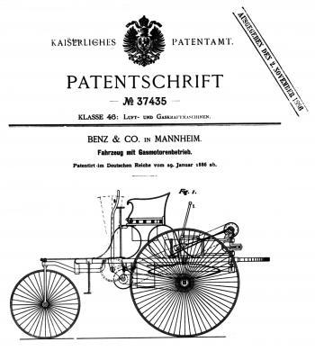 Patentschrift 37435 - Foto: Daimler AG