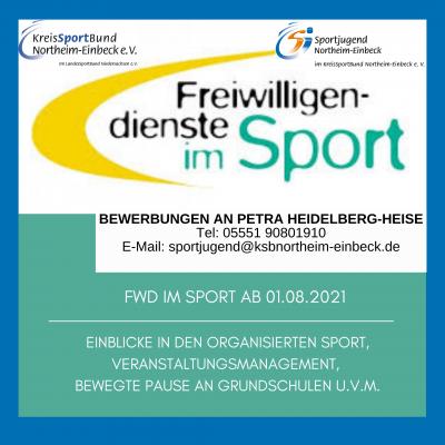 Freie Stellen für den Freiwilligendienst im Sport beim KSB Northeim-Einbeck und seiner Sportjugend