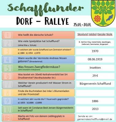Foto zur Meldung: Auflösung Dorf-Rallye 1