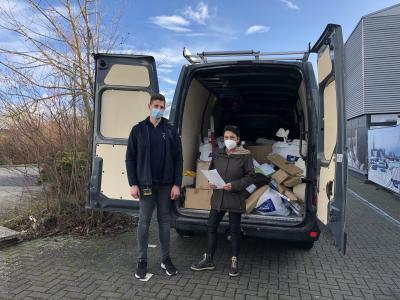 Foto zur Meldung: Dänisches Bettenlager überreicht dem Kinderschutzbund Ahrweiler großartige Sachspende