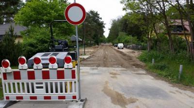 Foto zu Meldung: Arbeiten in der Ernst-Haube-Straße (vor der Waldpromenade)