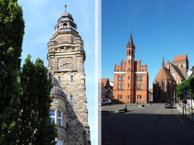 Die Rathäuser der Städte Wittenberge und Perleberg I Fotos: M.Ferch/N.Drescher