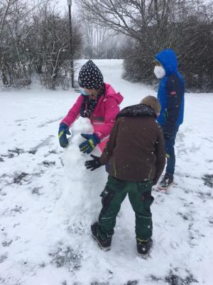 Foto zur Meldung: Es schneit!