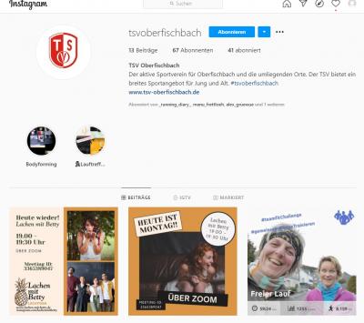TSV nun auch auf Instagram