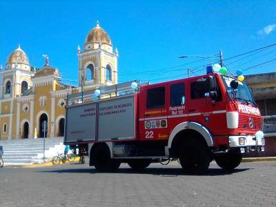 Foto zur Meldung: Tanklöschfahrzeug ist in Masatepe angekommen