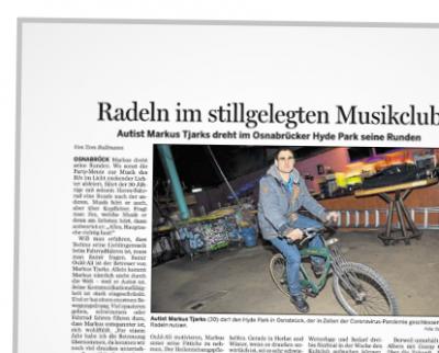Zeitungsausschnitt, Bericht über Markus im Hyde Park